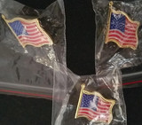 Patriotic American Flag Lapel Pins 3/Pk