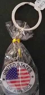 Patriotic American Flag 'United States of America' Enamel Key Chains 1/Pk