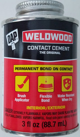 Dap Weldwood, Contact Cement 3 oz Cans w Brush Applicators