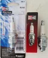 Champion Spark Plug RJ12C #592 #592M #592s Replaces RJ12YC J12 J12J J12JM KJ12 QJ12 RJ12 XJ12 XJ12J