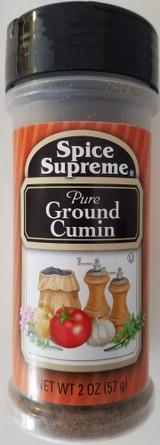 Culinary Ground Cumin Seasoning 2 oz (57g) Flip-Top Shaker