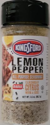 Kingsford Culinary Lemon Pepper Seasoning 3.5oz (99g) Flip-Top Shaker