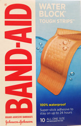 """Band-Aid Bandages Waterproof Tough Strips Extra Large 1 3/4""""x 4"""" 10 Ct/box"""