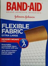 """Band-Aid Bandages Flexible Fabric Extra Large 1 3/4""""x 4"""" 10 Ct/box"""