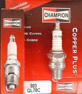 Champion Spark Plug QL78C #883 Replaces: RL78 RL78C XL78 38-01-01 BR7HS BR8HS