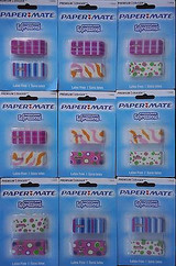 Erasers Latex Free Papermate Fashion Design Premium, 2 Erasers/pk