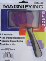 "Handheld Reading Magnifying Glass 4x Rectangular 4"" X 2"""