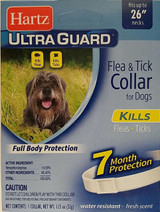"Hartz Ultraguard Flea & Tick Collar For Dogs Fits Necks To 26"""