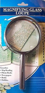 Handheld Reading Magnifying Glass 3.5 Inch (89 Mm) Diameter 2 X Magnification