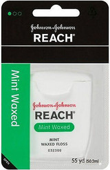 Johnson & Johnson Reach Mint Waxed Dental Floss 55 Yards