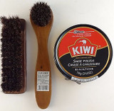 Kiwi Jumbo Black Shoe Polish, Horsehair Shine Brush & Dauber Kit, Select: Items