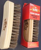 "Kiwi Shoe Shine Brush 100% Horsehair 5.8"" X 1.8"" Oak Handle New 1 Brush/pk"