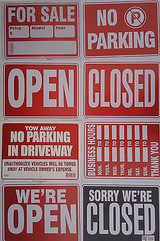 """Business Message Signs Plastic 12"""" X 16"""" Indoor/outdoor, Select: Message"""