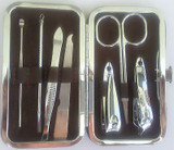 Nail Clipper Pedicure Manicure Set 7 Piece Stainless steel with Case