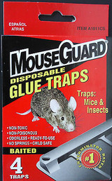 Mouse Guard Disposable Glue Traps Mice And Insects Non-toxic 4 Traps/box