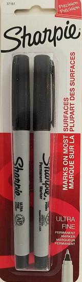 Sharpie Precision Ultra Fine Permanent Markers Black 2 Ct/Pk