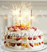 "Sparkling Cake Toppers Birthdays Weddings 7"" Candles Sparklers, Select Pack Size: 15, 30 or 60"