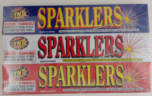3 Boxes containing 5 Sparklers/Box = Total 15 Sparklers