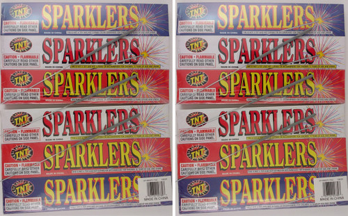 12 Boxes containing 5 Sparklers/Box = Total 60 Sparklers