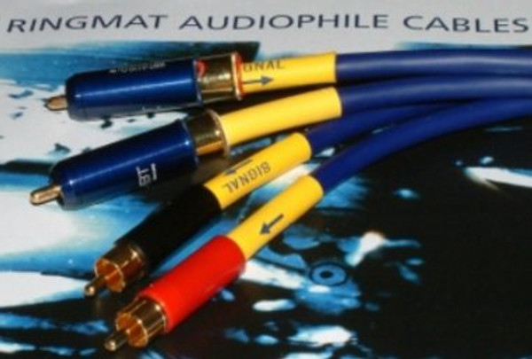 Ringmat Pure Signal Premium Blue - Analogue - 0.5M Stereo Pair Terminated with WBT Nextgen RCA Type Phono Plugs