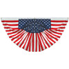 3' x 6' Endura-Poly Pleated Americana Fan - 160004