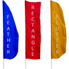 Solid Color Single Panel Feather Flags