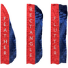 2 Panel Solid Color Vertical Flags