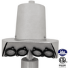 Internal Winch Beacon Flagpole Lights - Quad Bulb