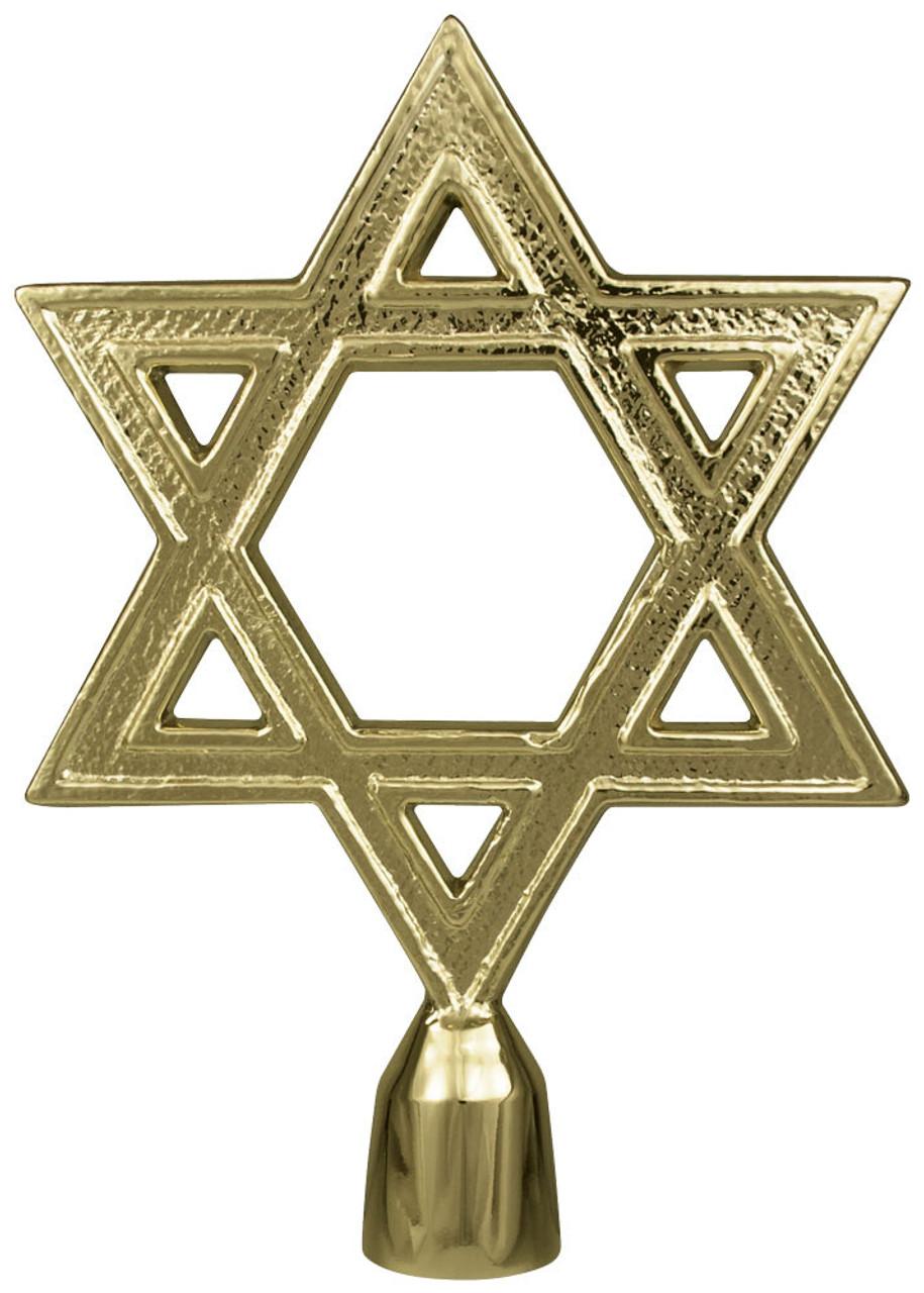 Metal Star of David Ornament