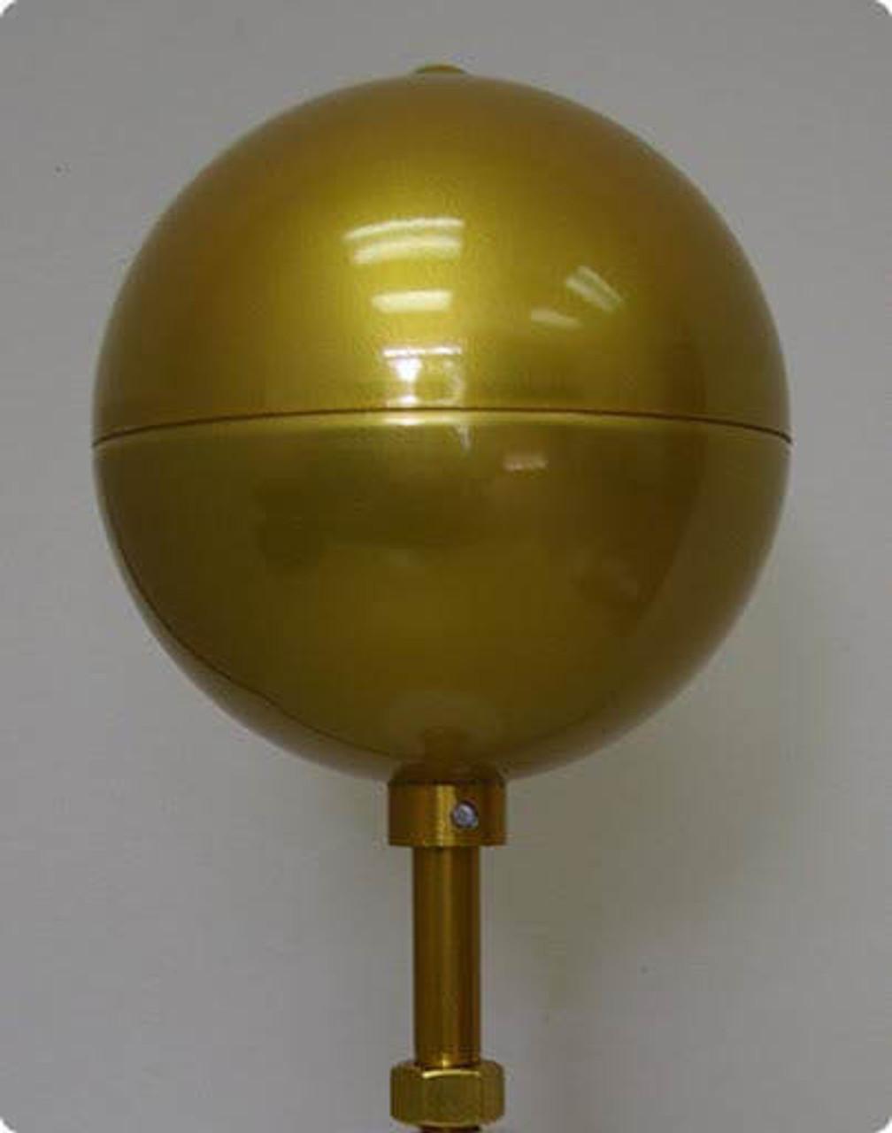 Nautical Fiberglass Flagpole Ball Ornament