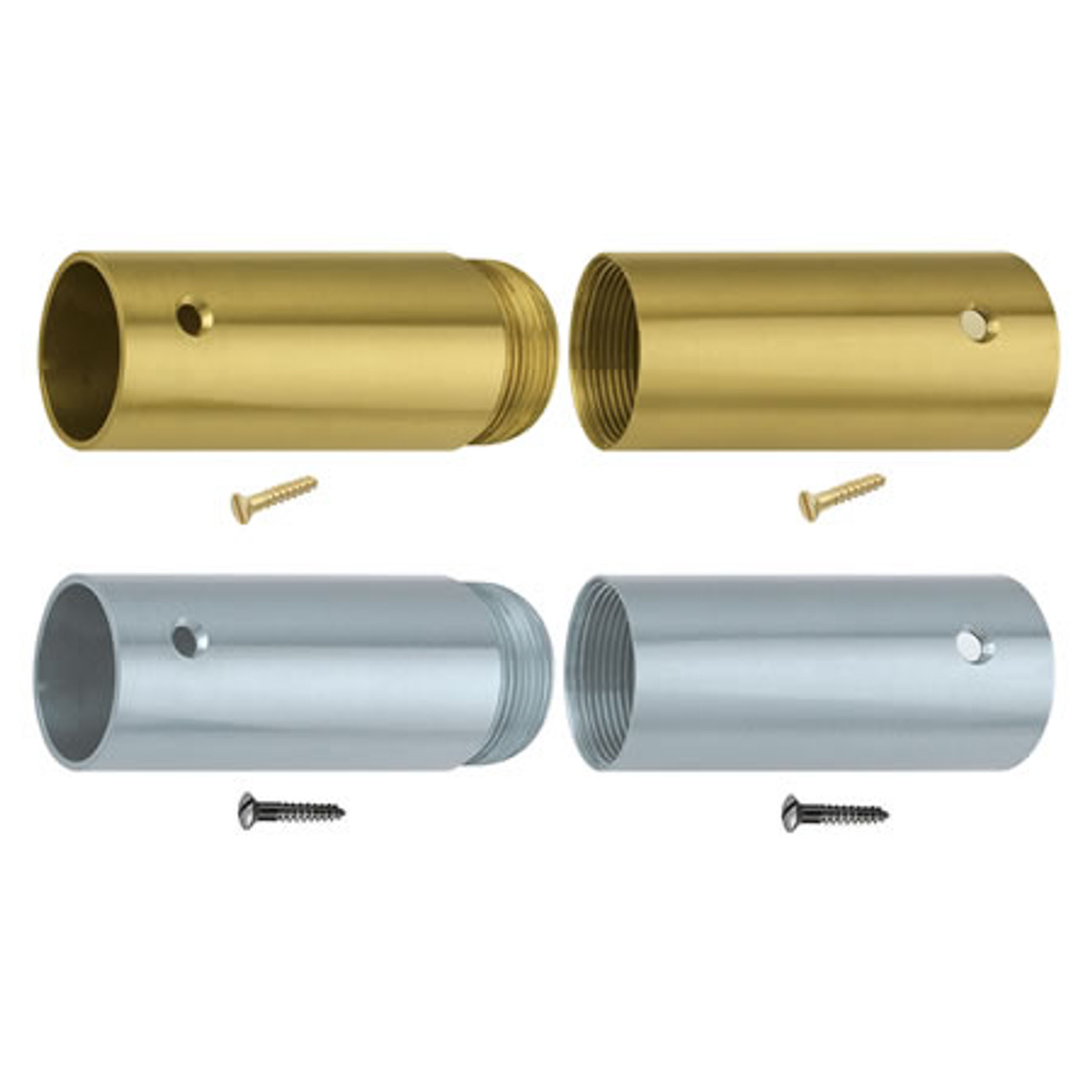 Brass Screw Joints for Wooden Poles