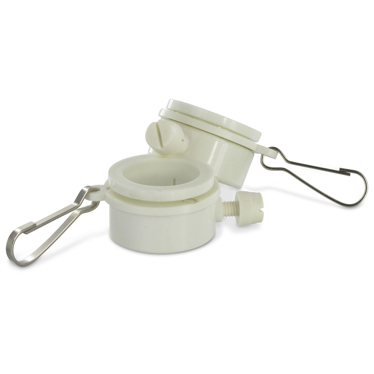 """1-1/4"""" PVC Flag Mount Ring with Clip - 00000125"""