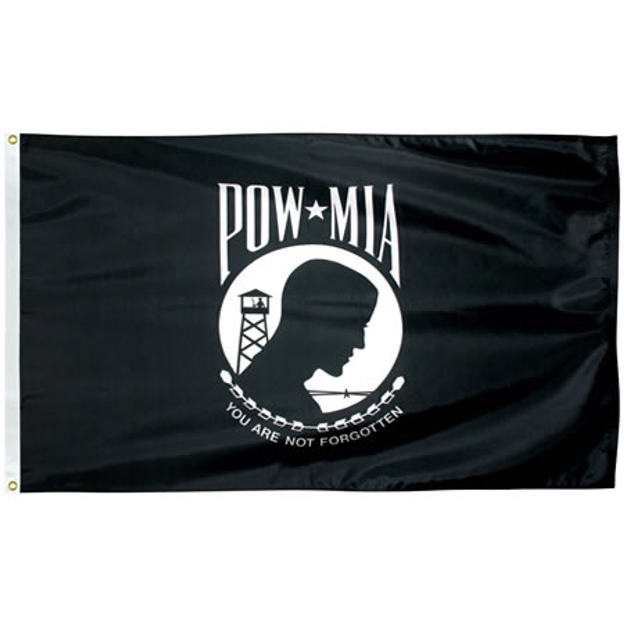 Single Faced Nylon POW-MIA Flags