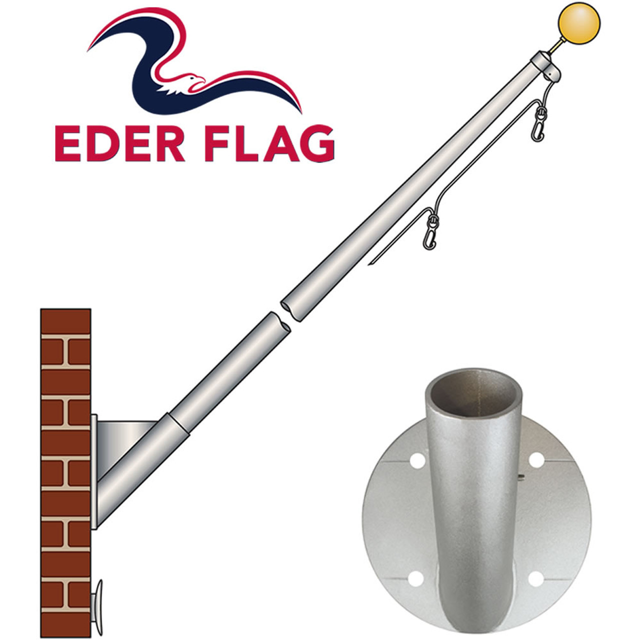 Eder Flag ECOST Aluminum Outrigger Flagpoles