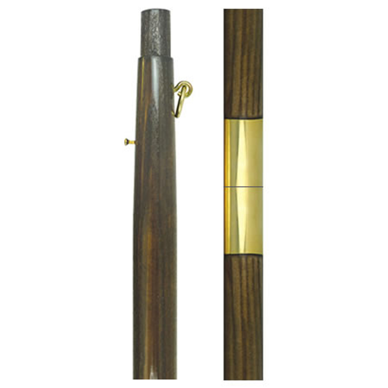 Dark Oak Wooden Indoor Poles Parade Poles