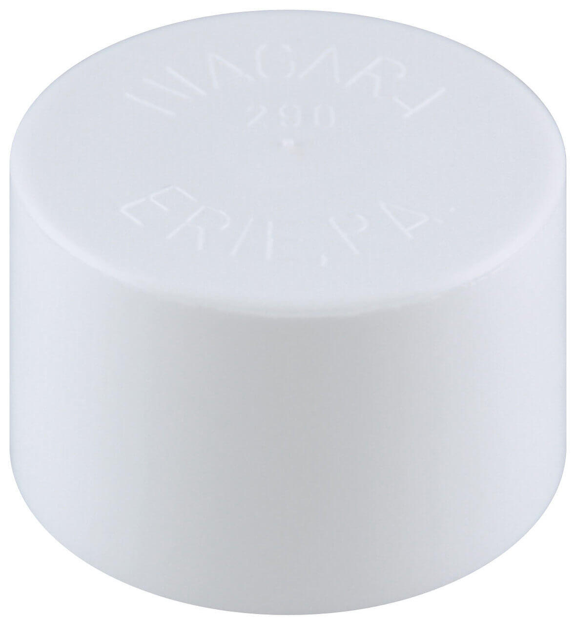 White Pole End Cap