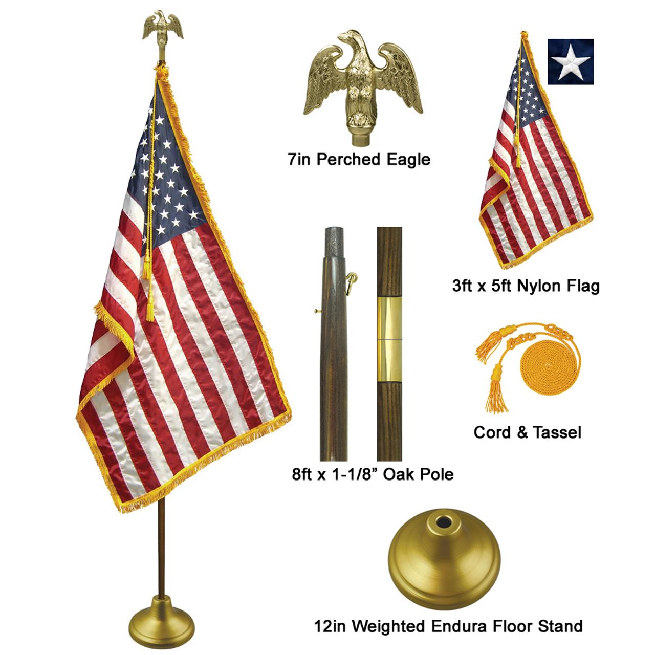 8' Deluxe Indoor Flag Set