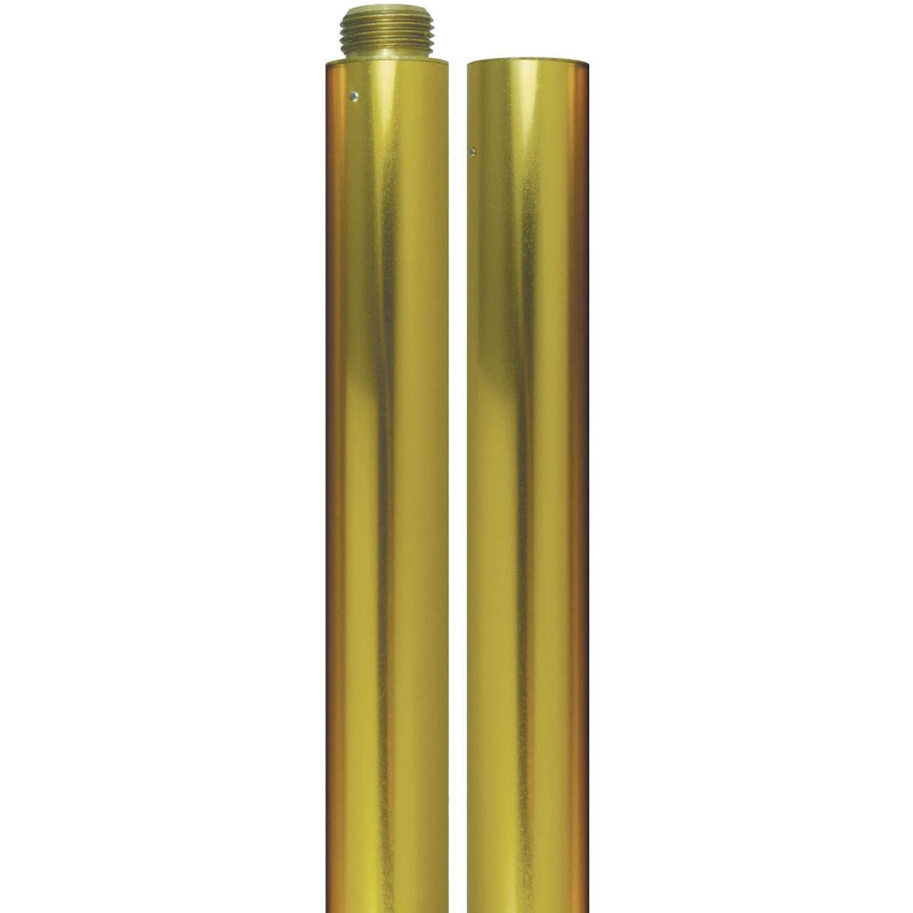 8' Gold Aluminum Pole Indoor Flag Set