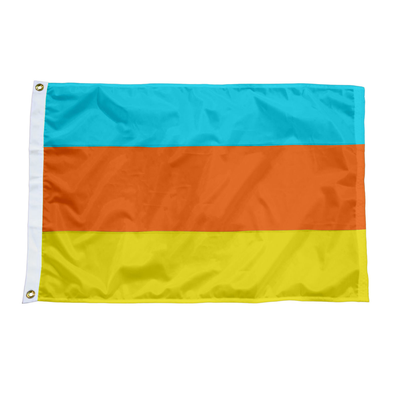 3 Panel Solid Color Nylon Attention Flags