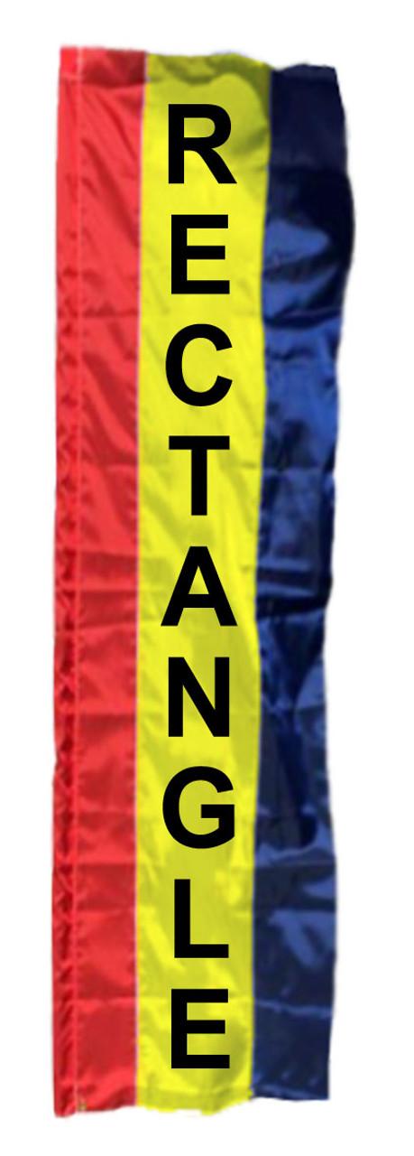 2 Stripe Solid Color Rectangle Flag