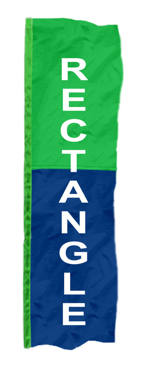2-Panel Vertical Rectangle Banner Flags
