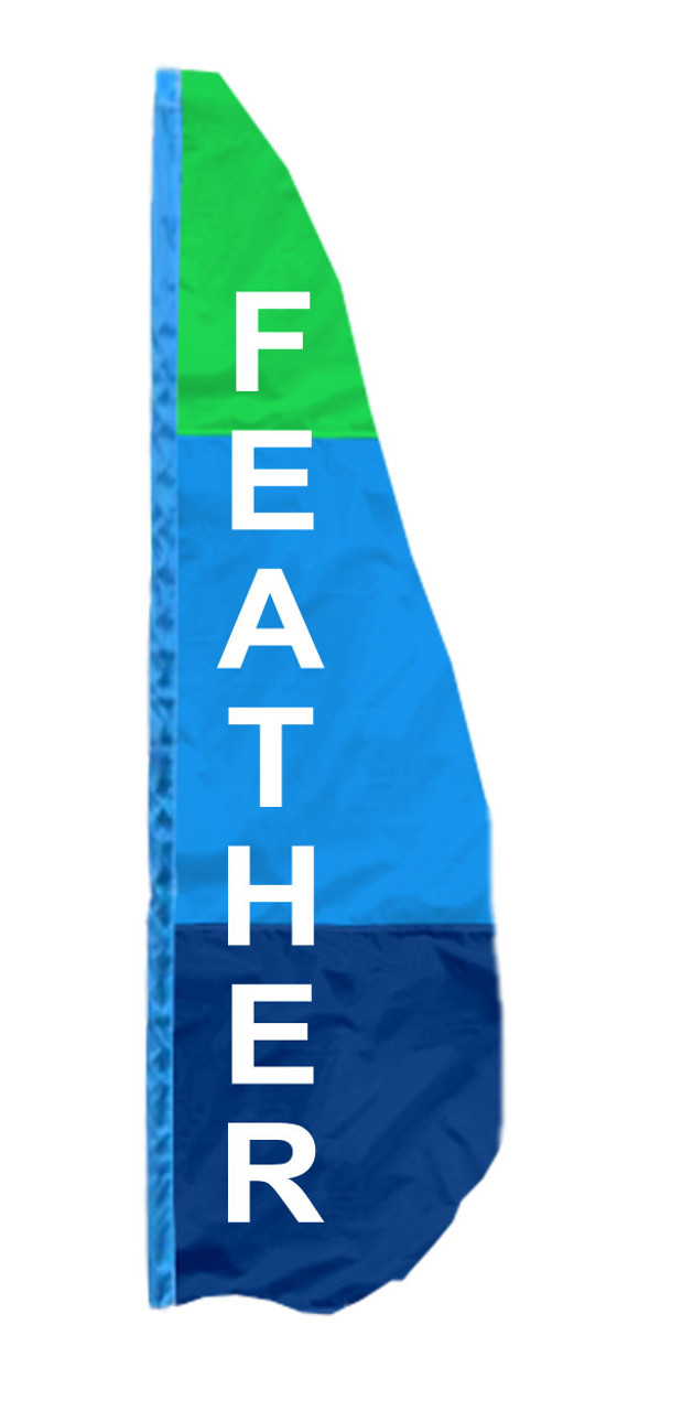 3-Horizontal Panel Vertical Feather Banner Flags