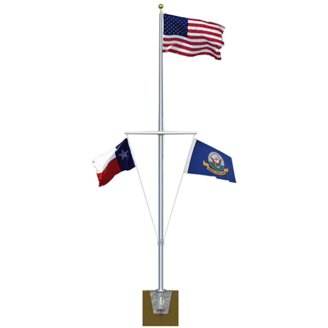 Single Mast Nautical Flagpole