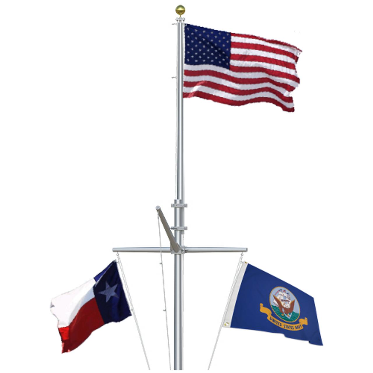 Double Mast Nautical Flagpole