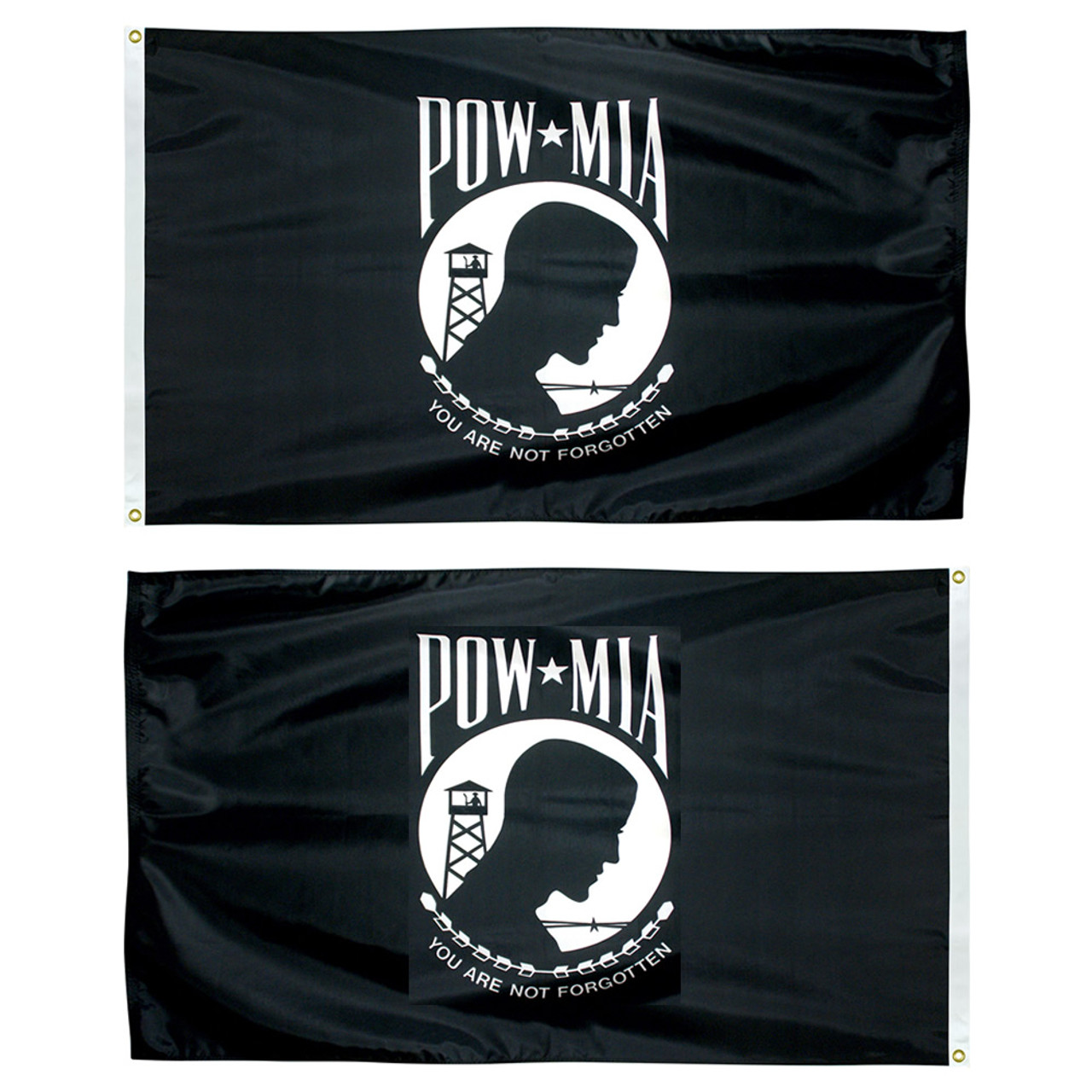 Double Faced Poly-Max POW-MIA Flags