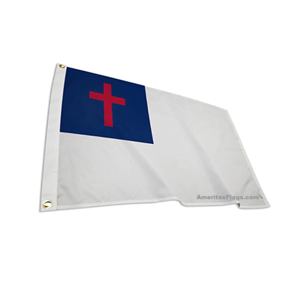 "12"" x 18"" ENDURA-POLY Christian Flag"