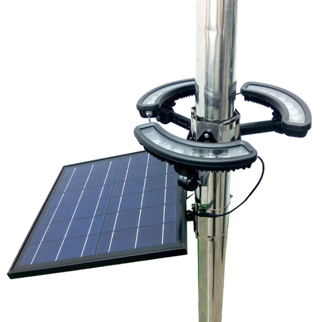360 Degree LED Solar Flag Pole Light, JY8-829 Plus