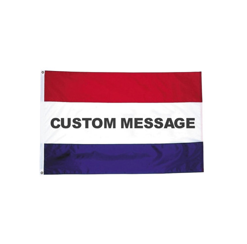 Custom Horizontal Striped Message Flags