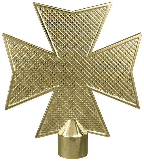 Gold Metal Maltese Cross Ornament