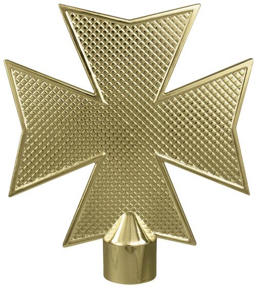 Gold Metal Maltese Cross Ornament